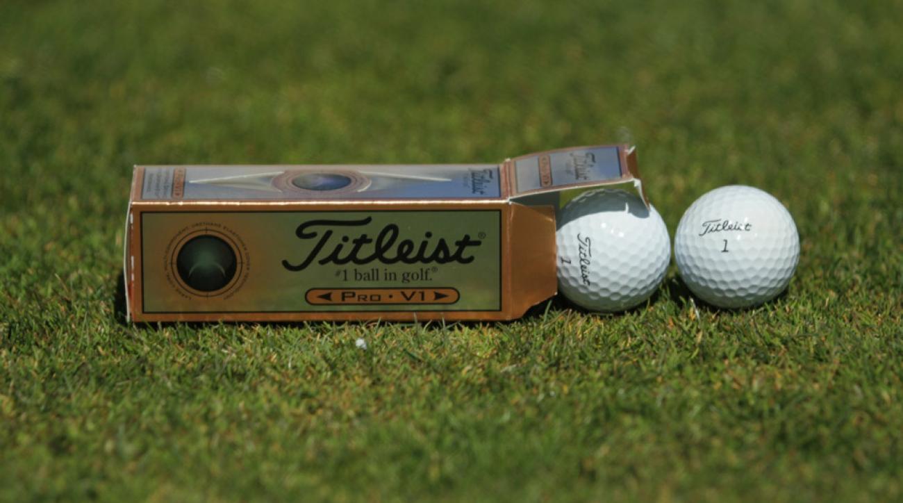 The original Titleist Pro V1 golf ball from 2000.