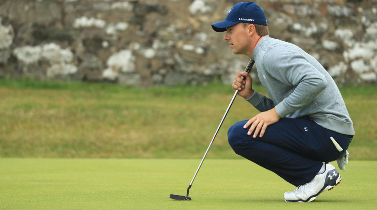 Jordan Spieth sporting his smart golf shoes at the 2016 British Open.
