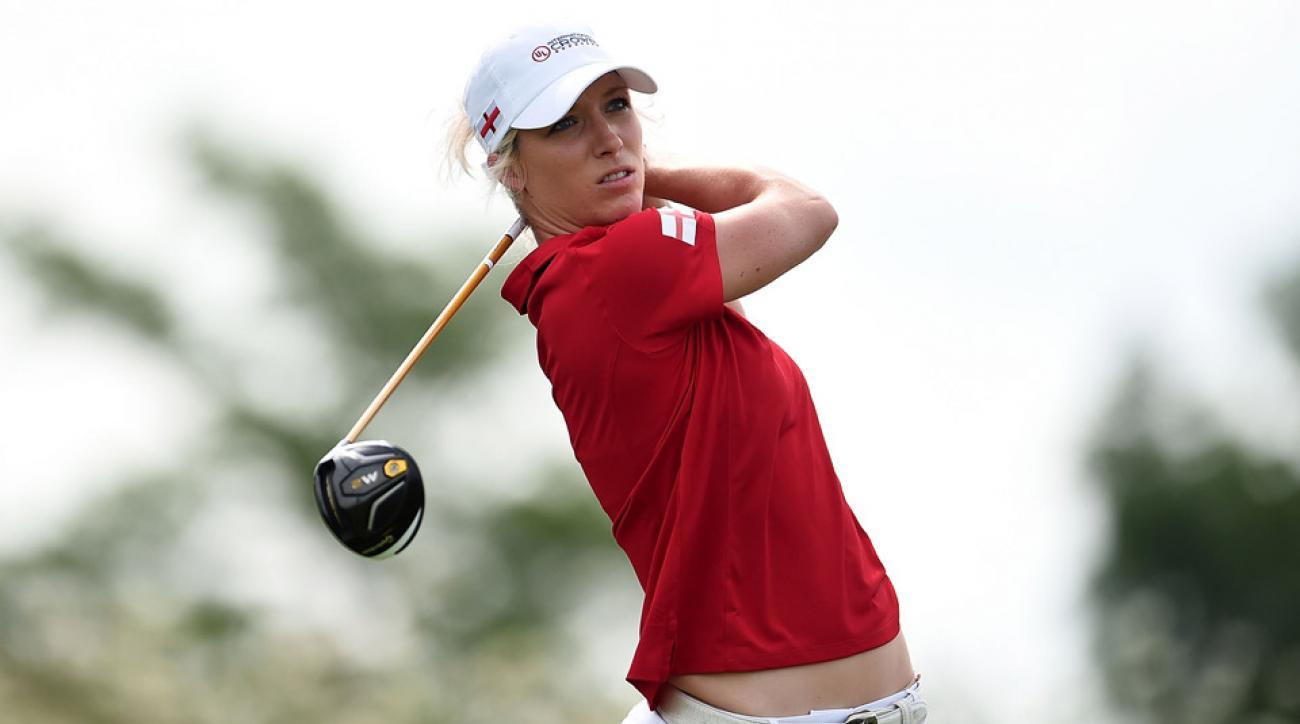 Melissa Reid of Team England on day 1 of the 2016 International Crown.