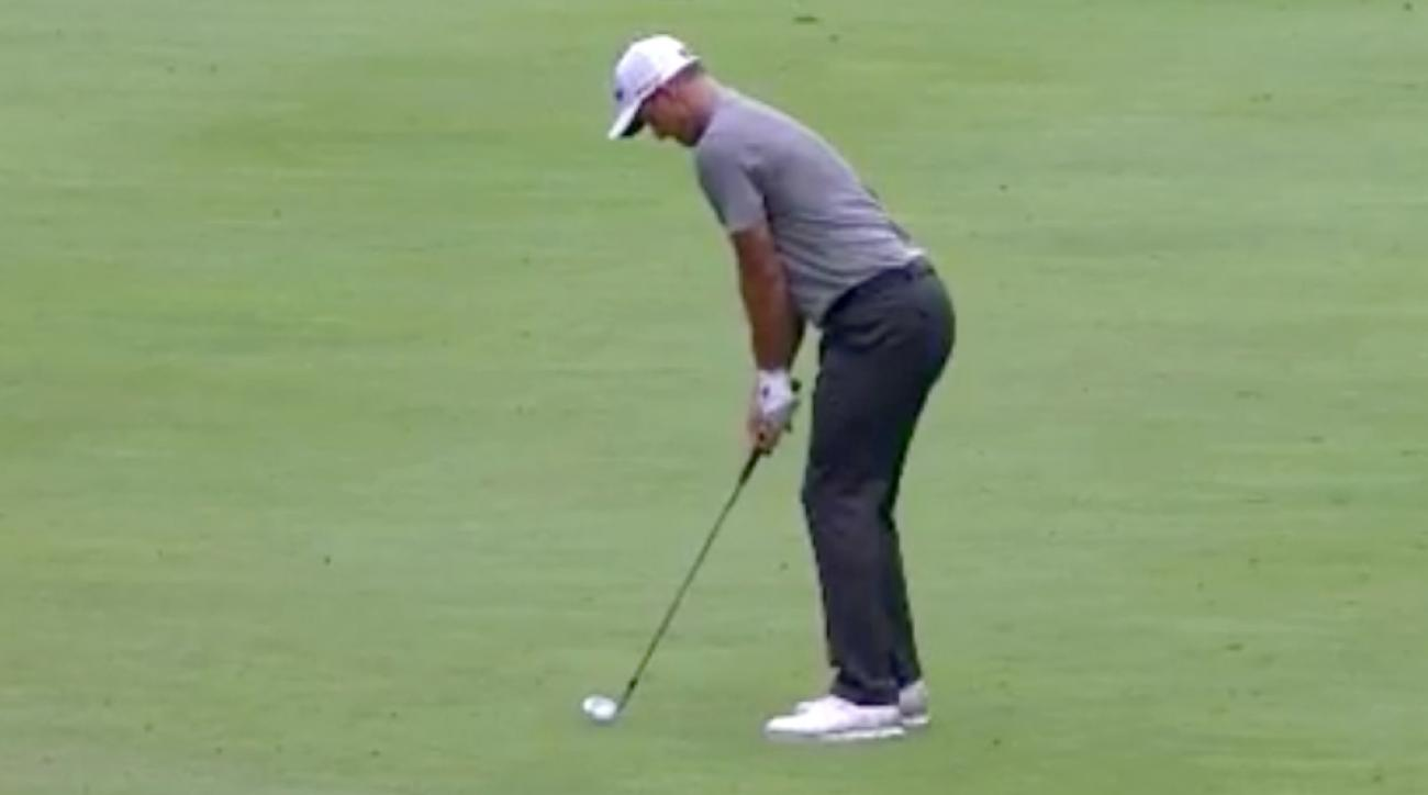 Adam Scott didn't even need his putter on the par-4 8th hole on Sunday.