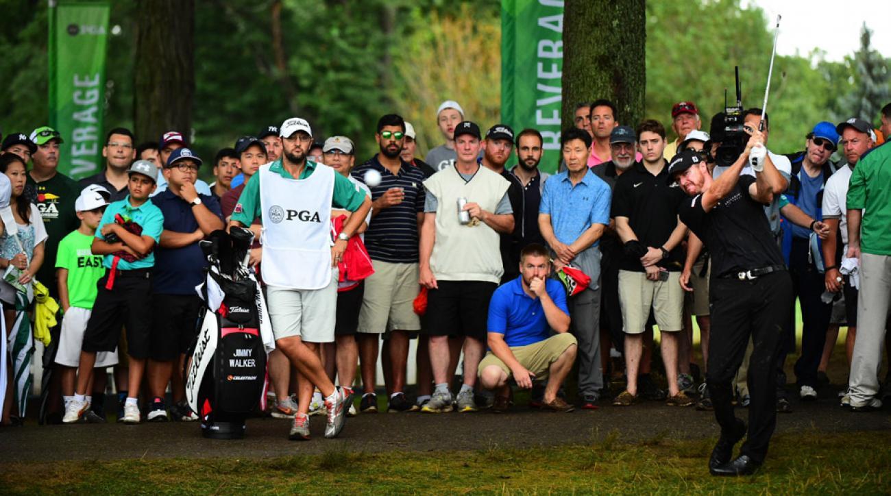 Jimmy Walker during the final round of the 2016 PGA Championship at Baltusrol.