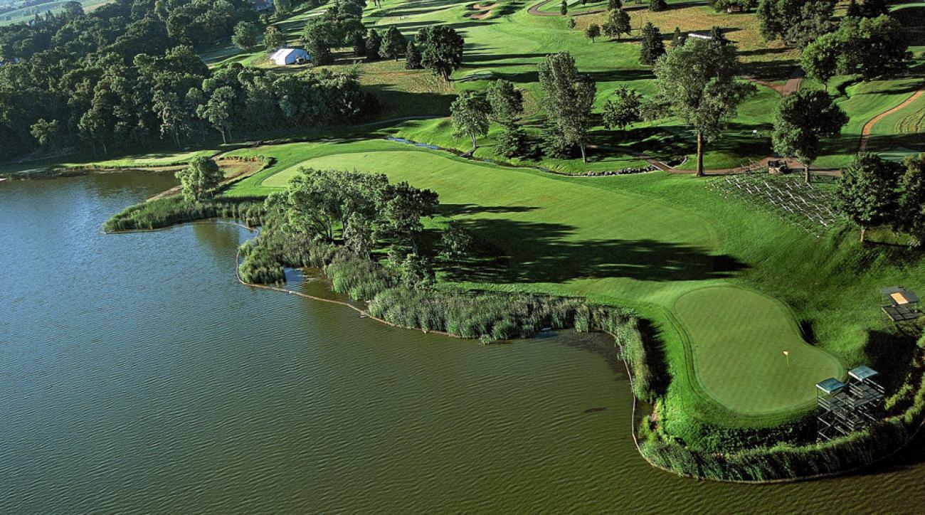 Hazeltine National Golf Club, which borders Lake Hazeltine, will host the 2016 Ryder Cup.