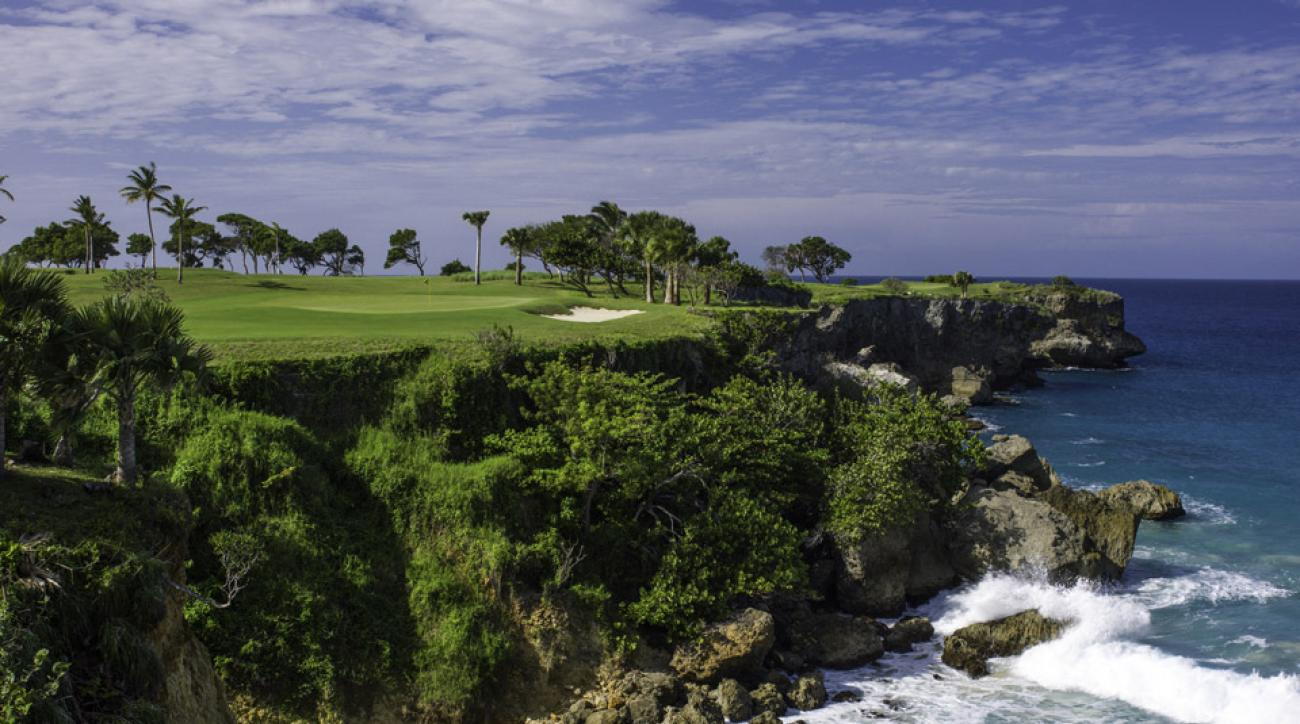 The 16th hole at the Dominican Republic's Playa Grande.