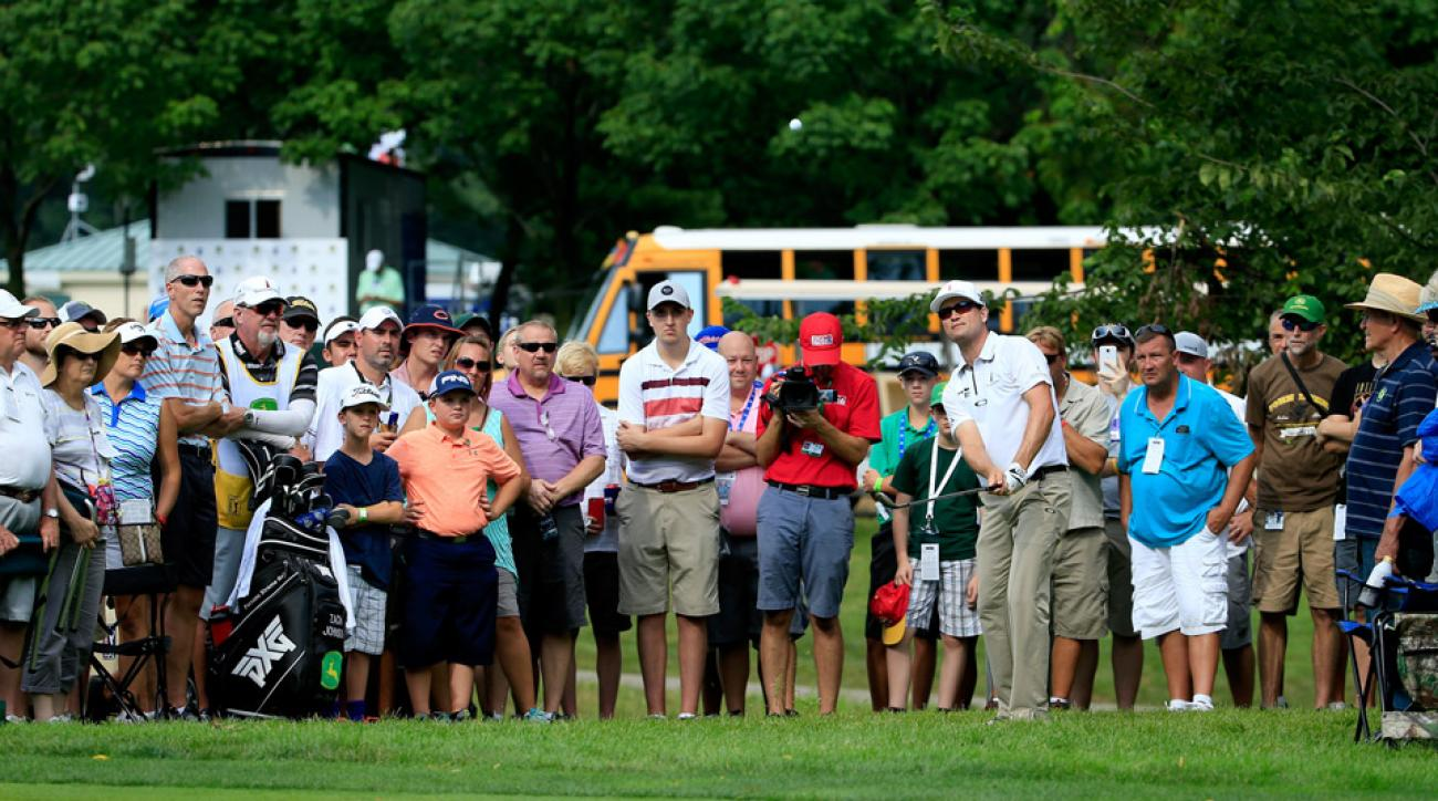 Zach Johnson during the first round of the 2016 John Deere Classic.