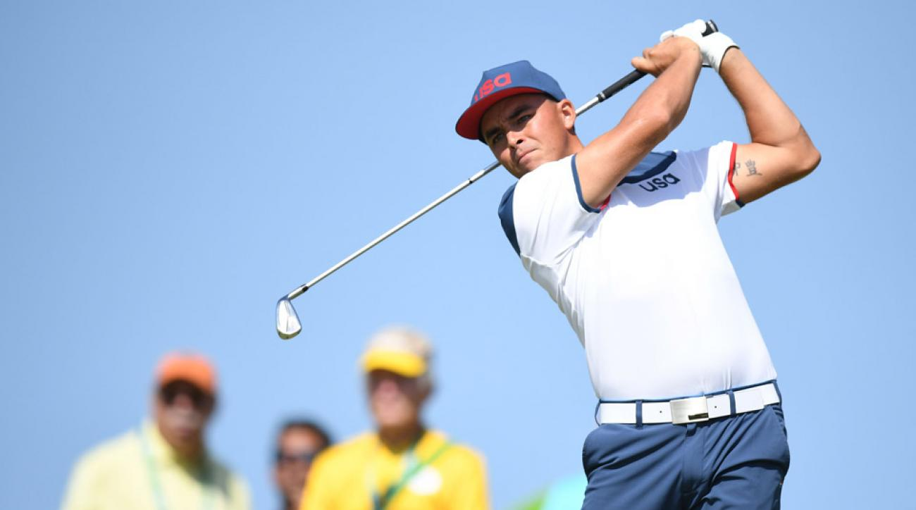 Rickie Fowler during the third round of the 2016 Olympic Golf tournament.