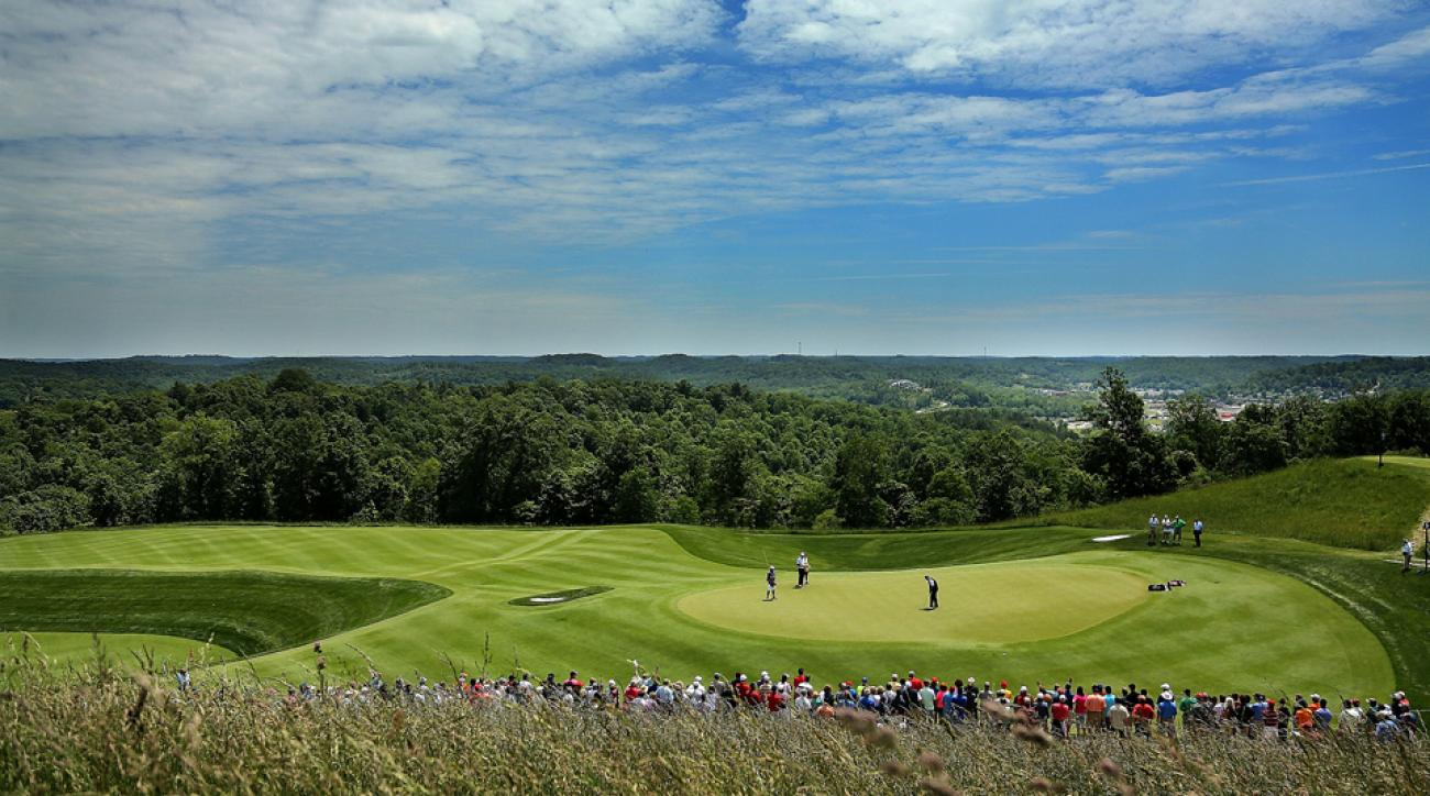The Pete Dye Course in French Lick hosted the 2015 Senior PGA Championship, won by Colin Montgomerie.