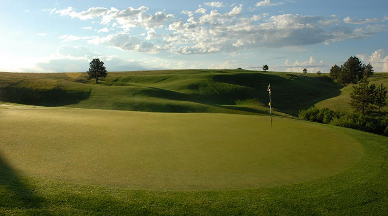 The 4th hole at the Golf Club at Red Rock in Rapid City, South Dakota.