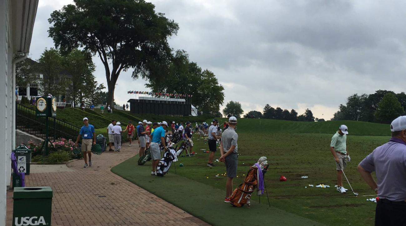 Players warming up on the driving range at the U.S. Amateur this week will be limited to shots 240 yards or less.
