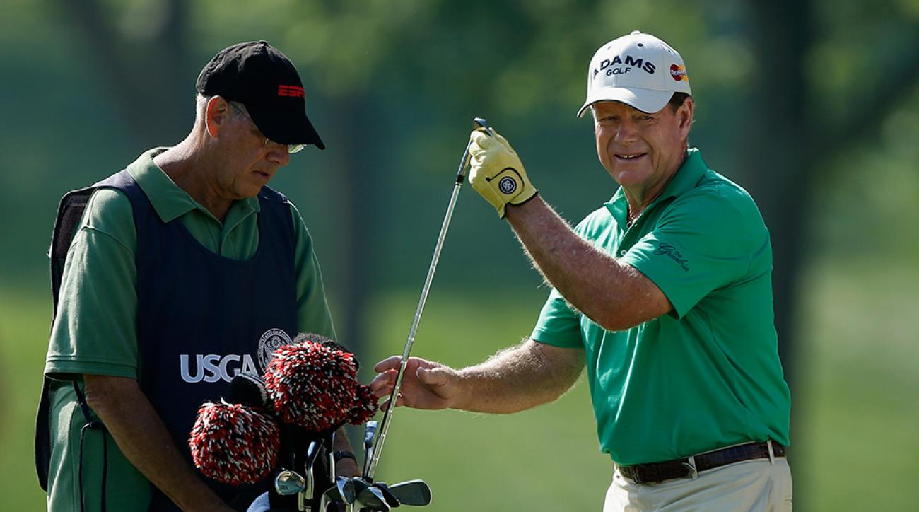 Tom Watson and caddie Neil Oxman at the 2013 U.S. Senior Open.