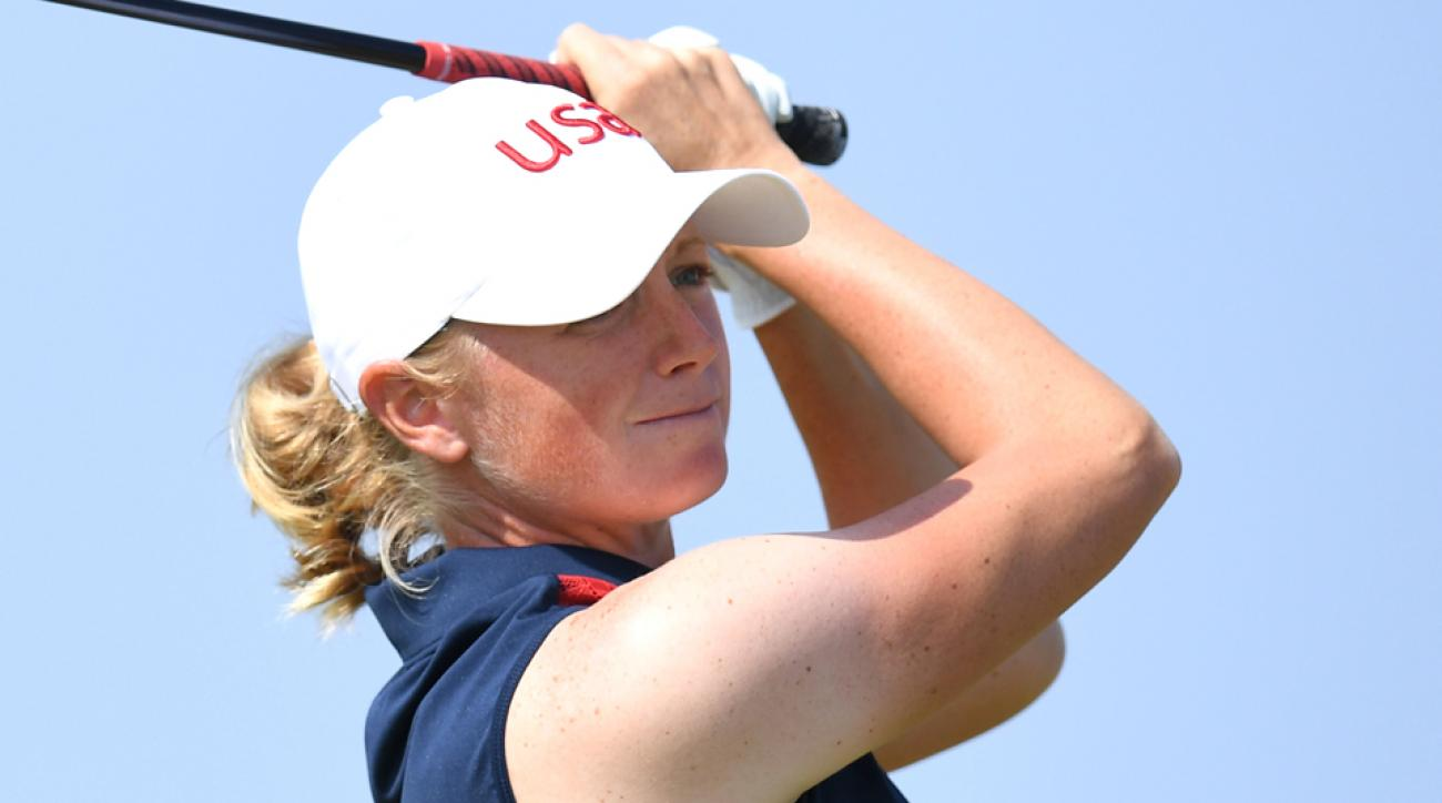 Stacy Lewis made 11 birdies en route to her eight-under 63, which has been the lowest round of the week.