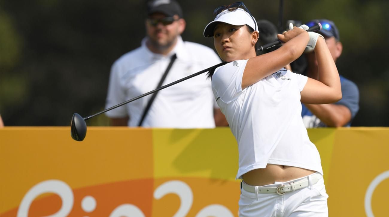 Lydia Ko during the third round of the 2016 Olympic Golf competition in Rio.