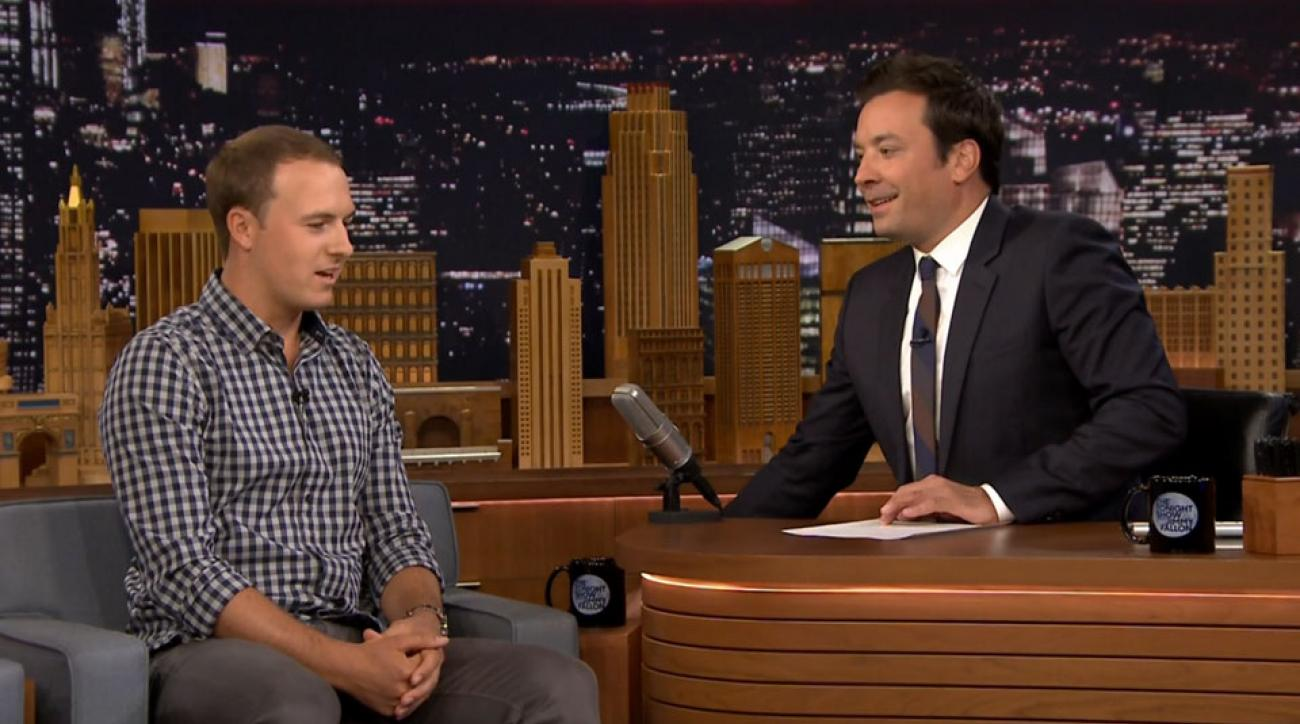 Two-time major winner Jordan Spieth joined Jimmy Fallon on 'The Tonight Show' on Monday.