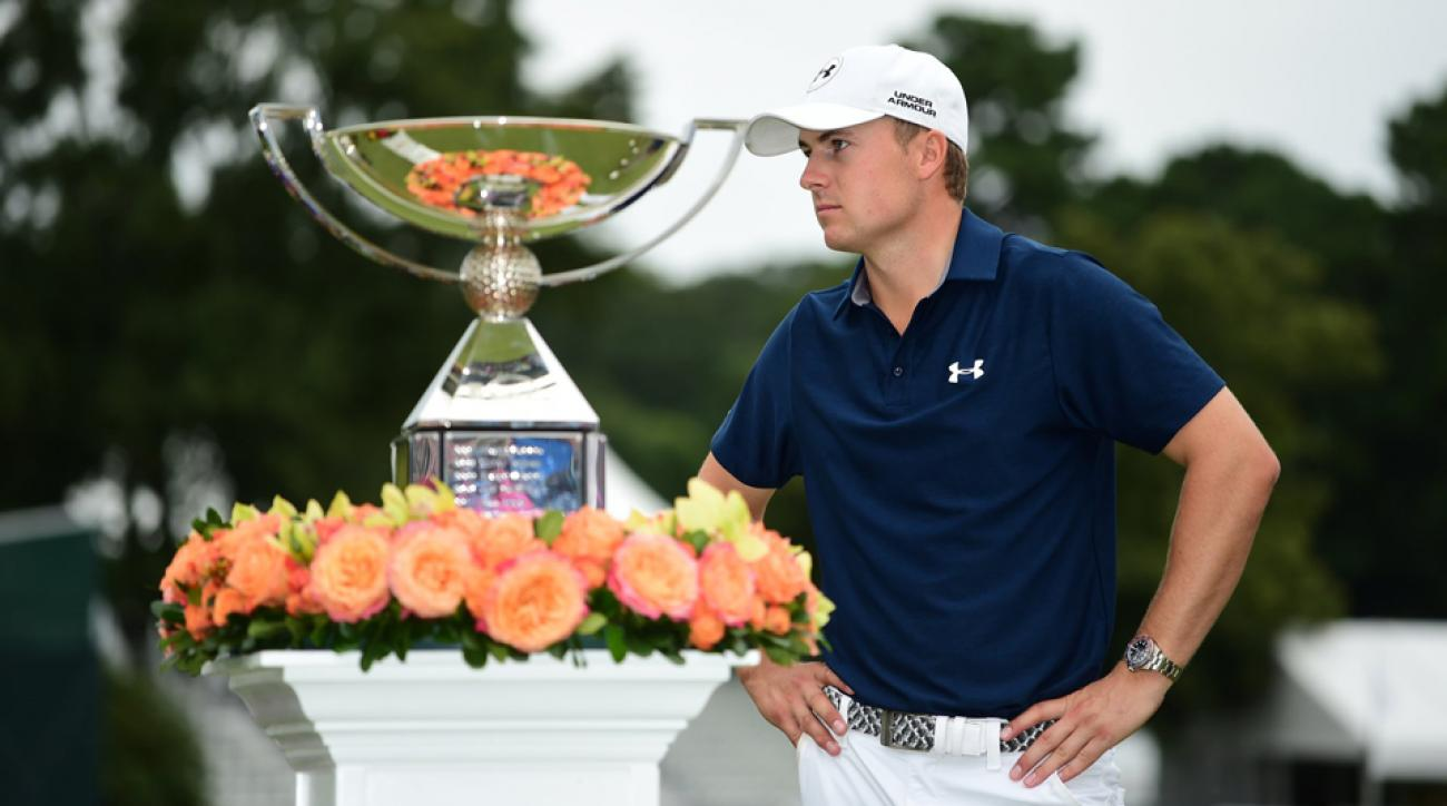 Jordan Spieth after winning the 2016 Tour Championship.