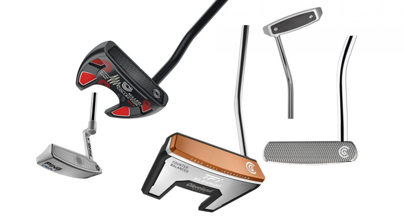 These five new putters have innovative faces to improve roll and control.