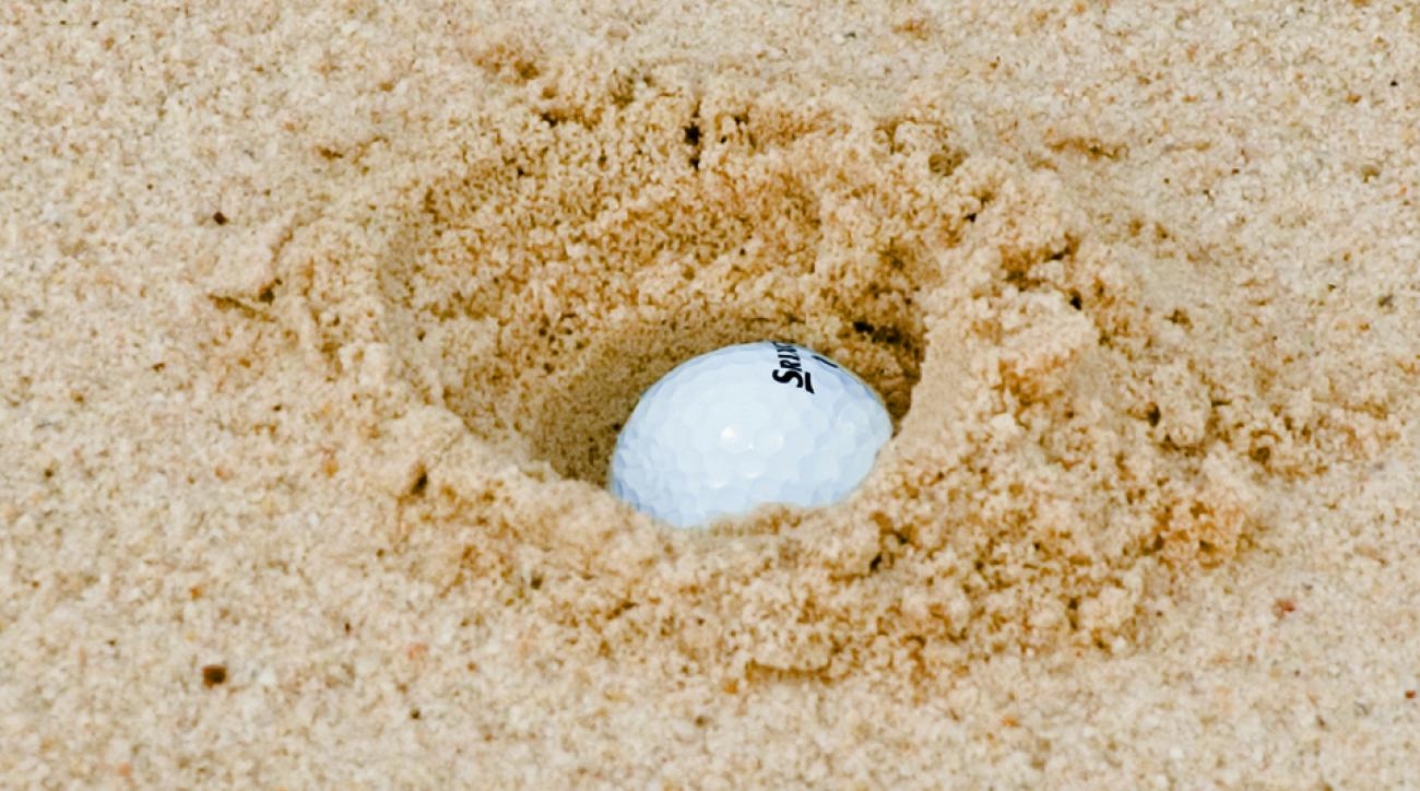 The ball can bury, but it can't hide—if you know how to chop it out.