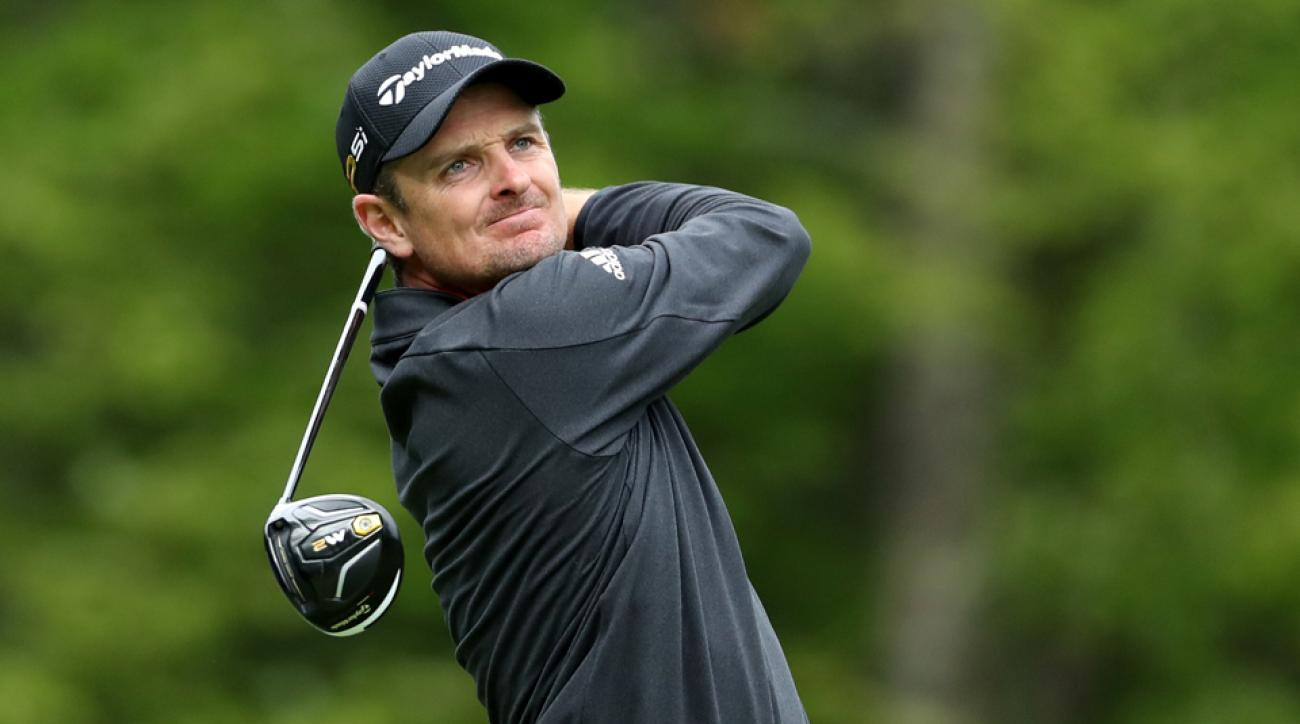 Justin Rose took his lumps during the back nine on Monday.