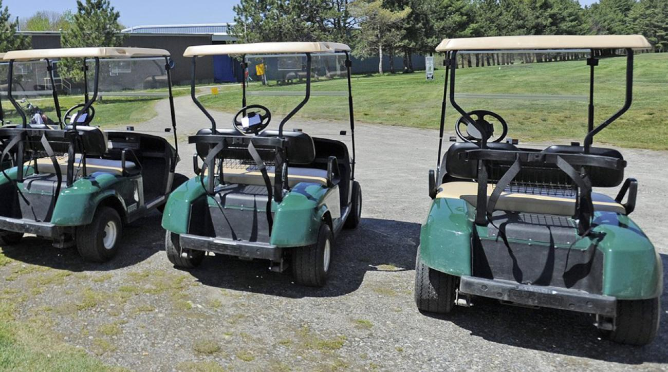 A soldier was hit by a golf cart and broke two bones in his leg at a Florida course.