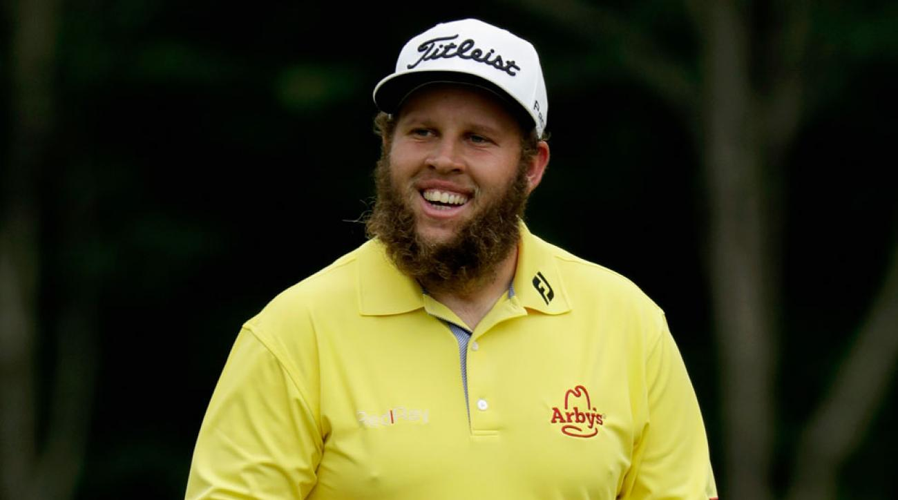 """Andrew """"Beef"""" Johnston became a fast fan favorite thanks to his cheerful demeanor and strong play in this year's majors."""