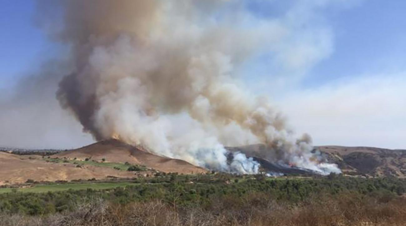 A brush fire caused by a club-stricken rock burned 20 acres earlier this week.