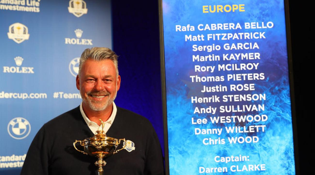 Darren Clarke has the tall task of following 2014 European captain Paul McGinley.