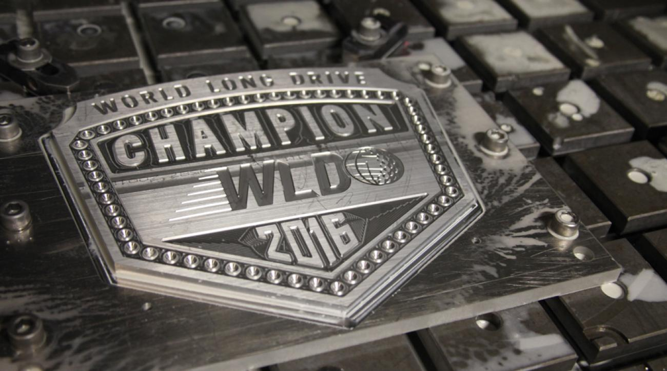Orange County Choppers spent more than 100 hours creating the new belt for the winner of the World Long Drive Championship.