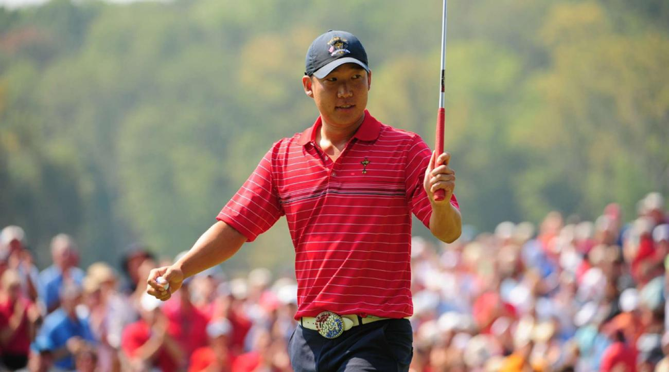 Anthony Kim beat Sergio Garcia in the Sunday singles session of the 2008 Ryder Cup by a score of 5&4.