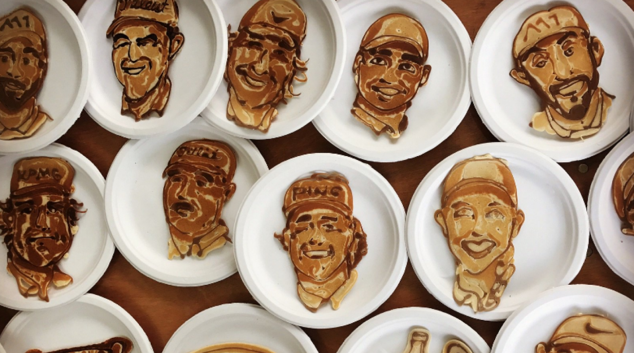 A pancake artist showed of their abilities at the Tour Championship this week.