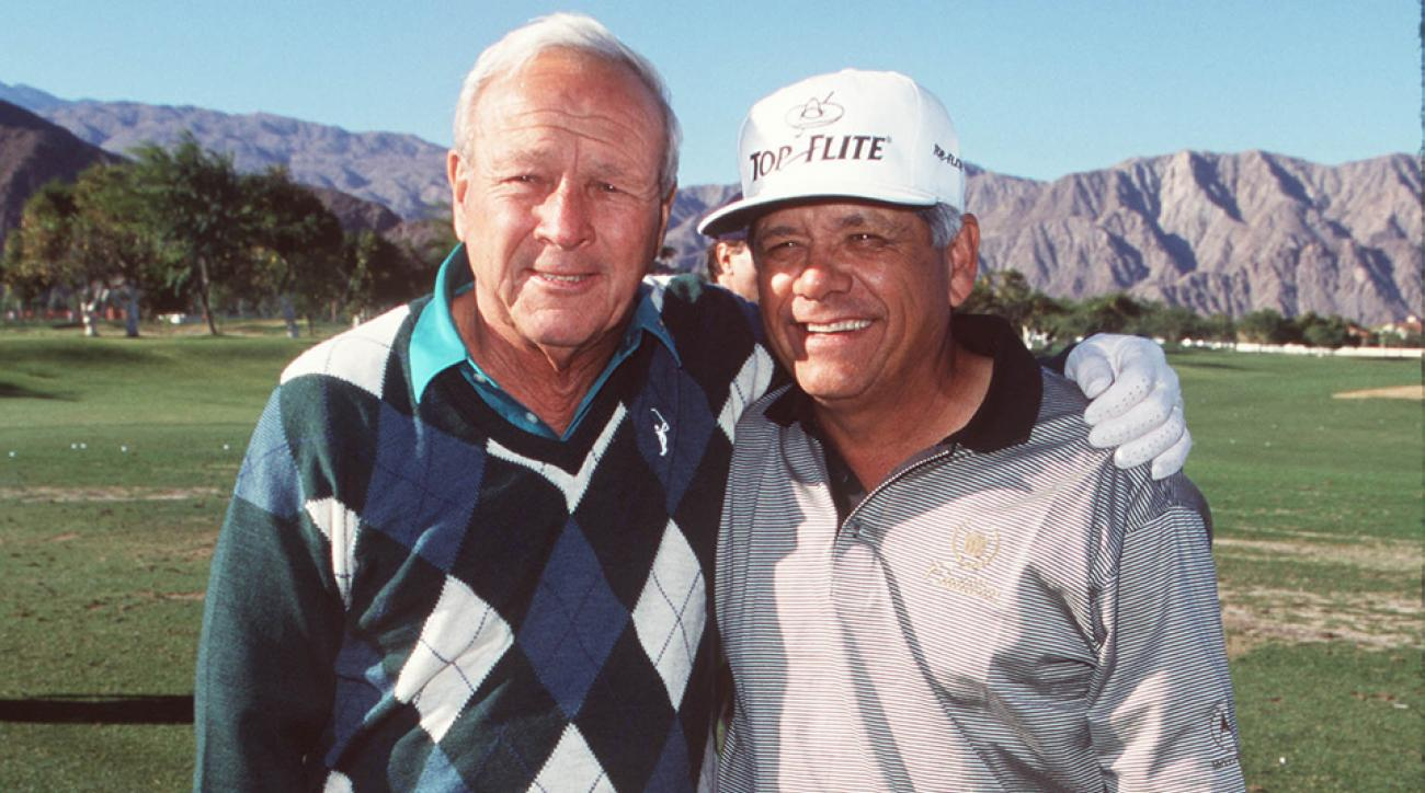 Arnold Palmer and Lee Trevino, together at the 1998 Lexus Challenge.