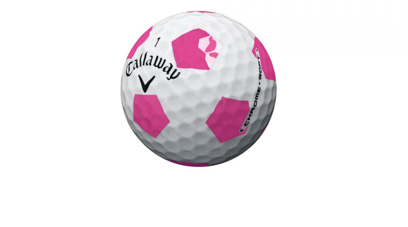 The new Callaway Chrome Soft Truvis Pink golf ball.