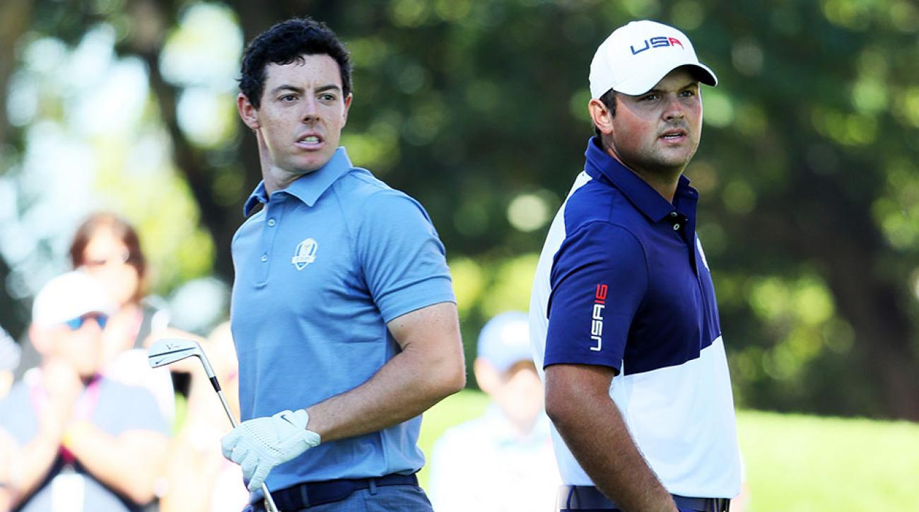 Rory McIlroy and Patrick Reed are in an epic battle at Hazeltine.