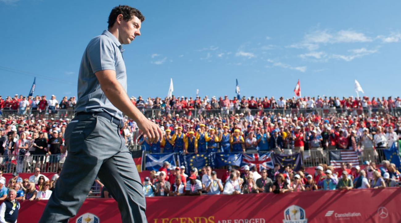 """Before the start of the singles session on Sunday, the PGA of America warned fans not to be """"disruptive"""" to players."""