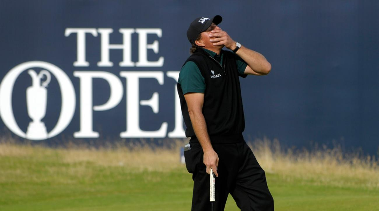Phil Mickelson after his putt for 62 lipped out in the first round of the 2016 British Open.