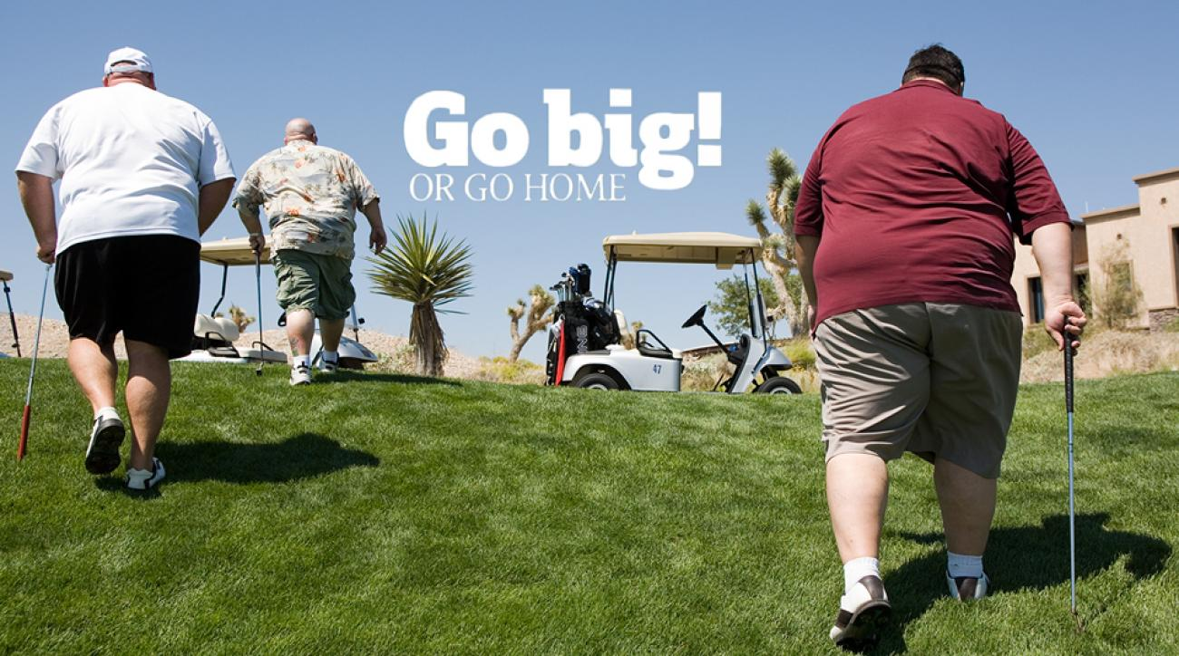 Harold Daly, far right, and his squad tipped the scales at a combined 1,490 pounds.