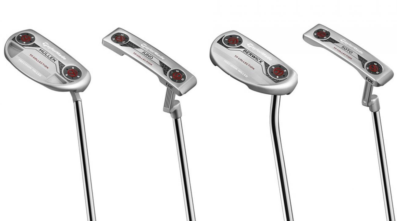 From left to right: TaylorMade TP Mullen putter; TaylorMade TP Juno Putter; TaylorMade TP Berwick putter; TaylorMade TP Soto putter.