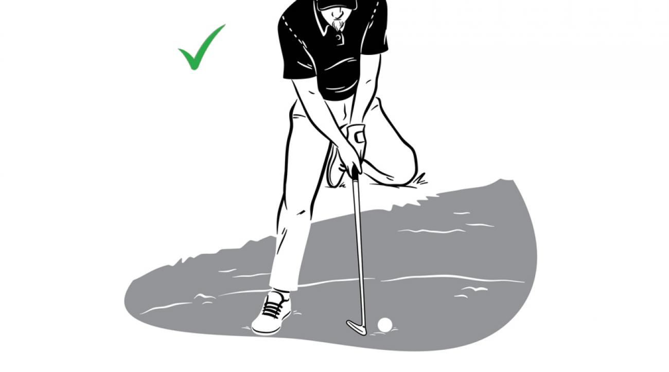 Maintaining posture and balance is important in this dicey situation.