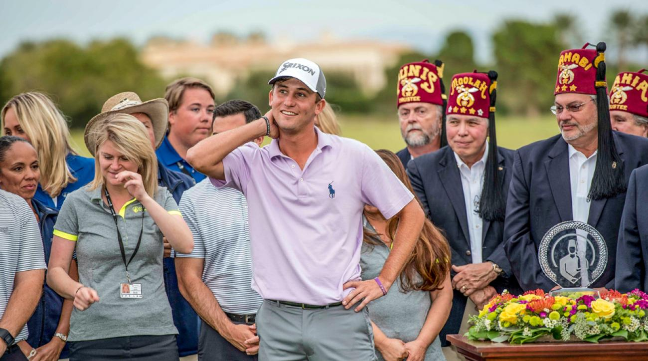 Kaufman won his first career event in Las Vegas at the 2015 Shriners Hospitals for Children Open.