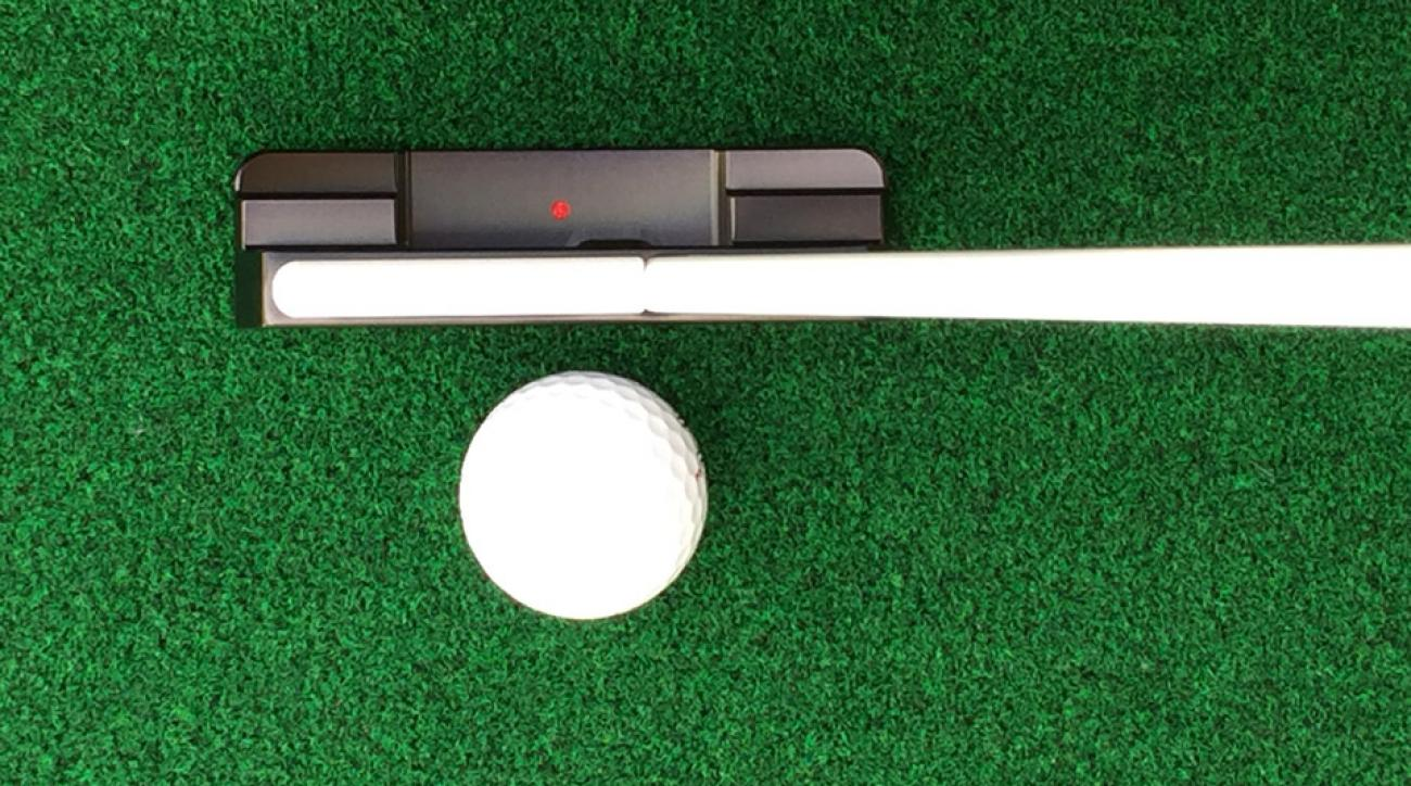 The new Shaftlign putter has an innovative alignment aid.