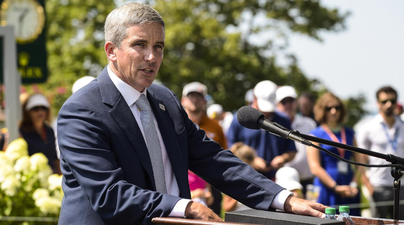 Jay Monahan succeeded Tim Finchem as the Commissioner of the PGA Tour.