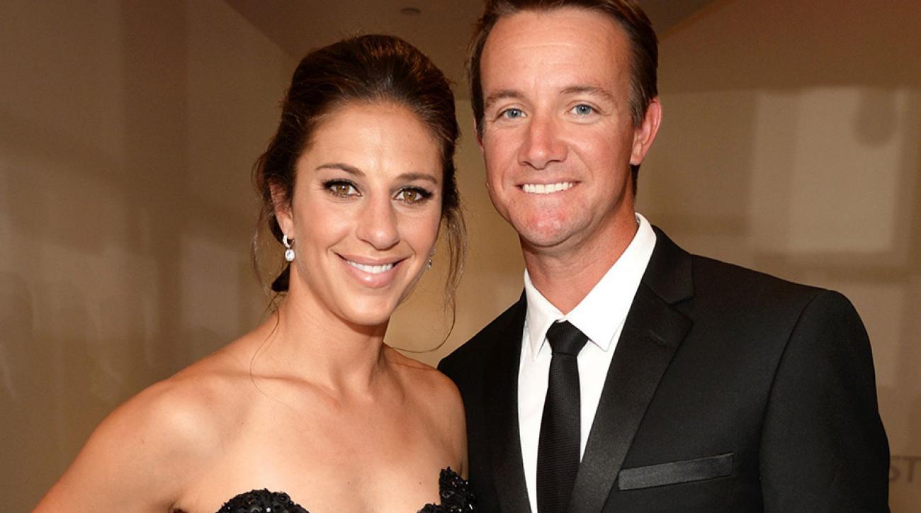 U.S. women's soccer star Carli Lloyd married her high-school sweetheart, golf professional Brian Hollins, this weekend.