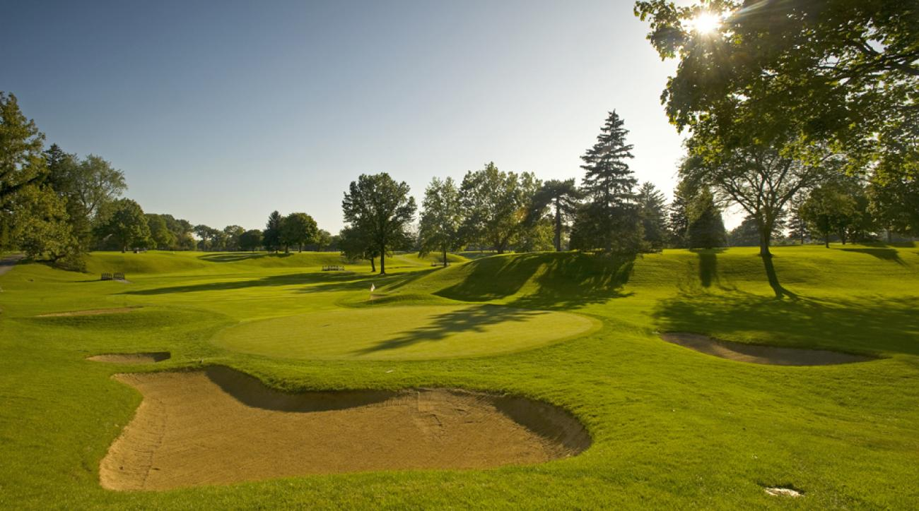 The 15th hole of the Inverness Club in Toledo, Ohio.