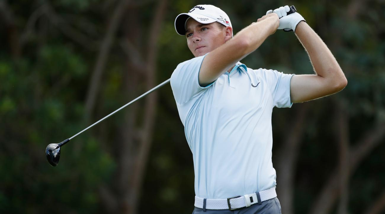 Aaron Wise is in contention during the first round of the OHL Classic, thanks to a hole-in-one and an eagle on consecutive holes.
