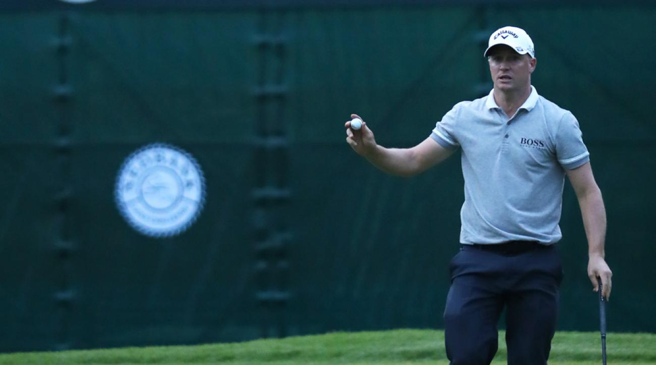 Alex Noren of Sweden leads the Nedbank Golf Challenge after two rounds.