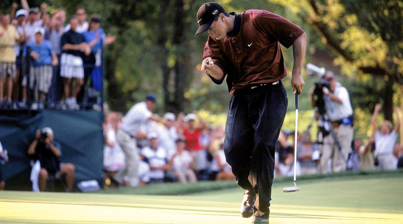 Tiger Woods iconic walk at Valhalla during the 2000 PGA Championship created one of the best GIFs of his career.