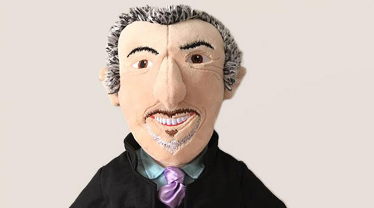This David Feherty headcover looks and sounds like the original.
