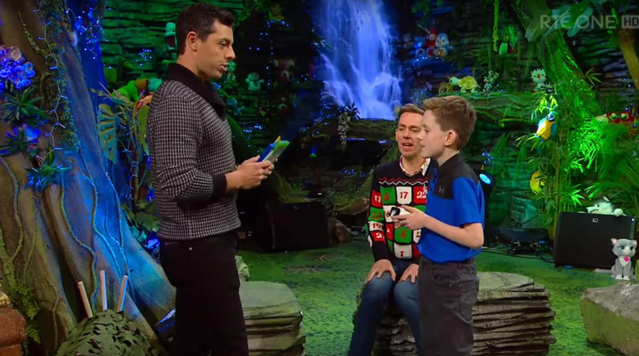 "Rory McIlroy on the Irish TV show ""The Late Late Toy Show."""