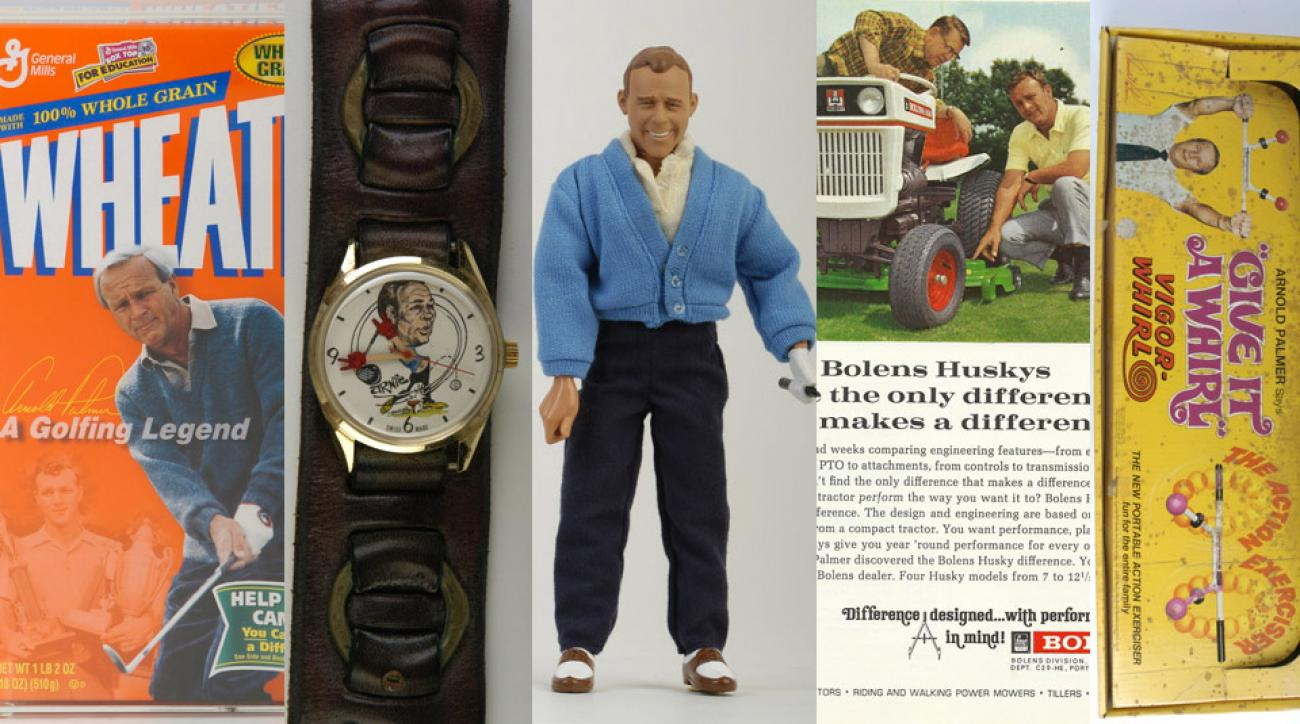 A small sample of Arnold Palmer products and advertisements.