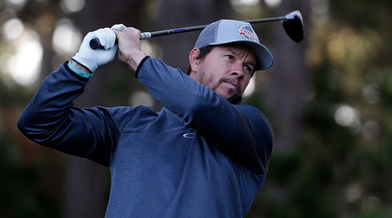 Mark Wahlberg during the first round of the 2016 AT&T Pebble Beach National Pro-Am.