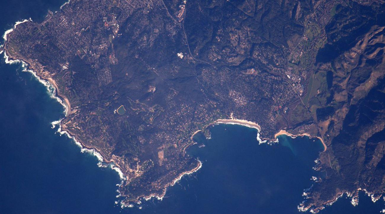 Astronaut Shane Kimbrough snapped this shot of the Monterey Peninsula from the International Space Station.