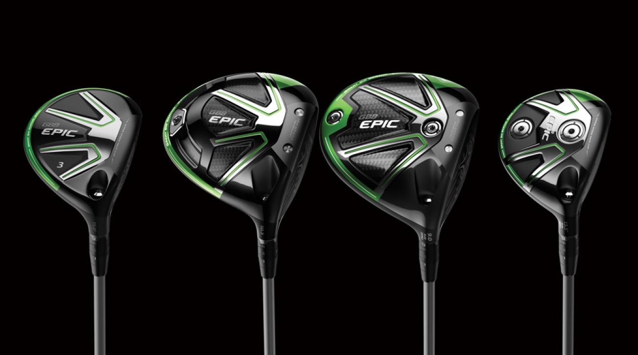 The new Callaway GBB Epic family of drivers and fairway woods.