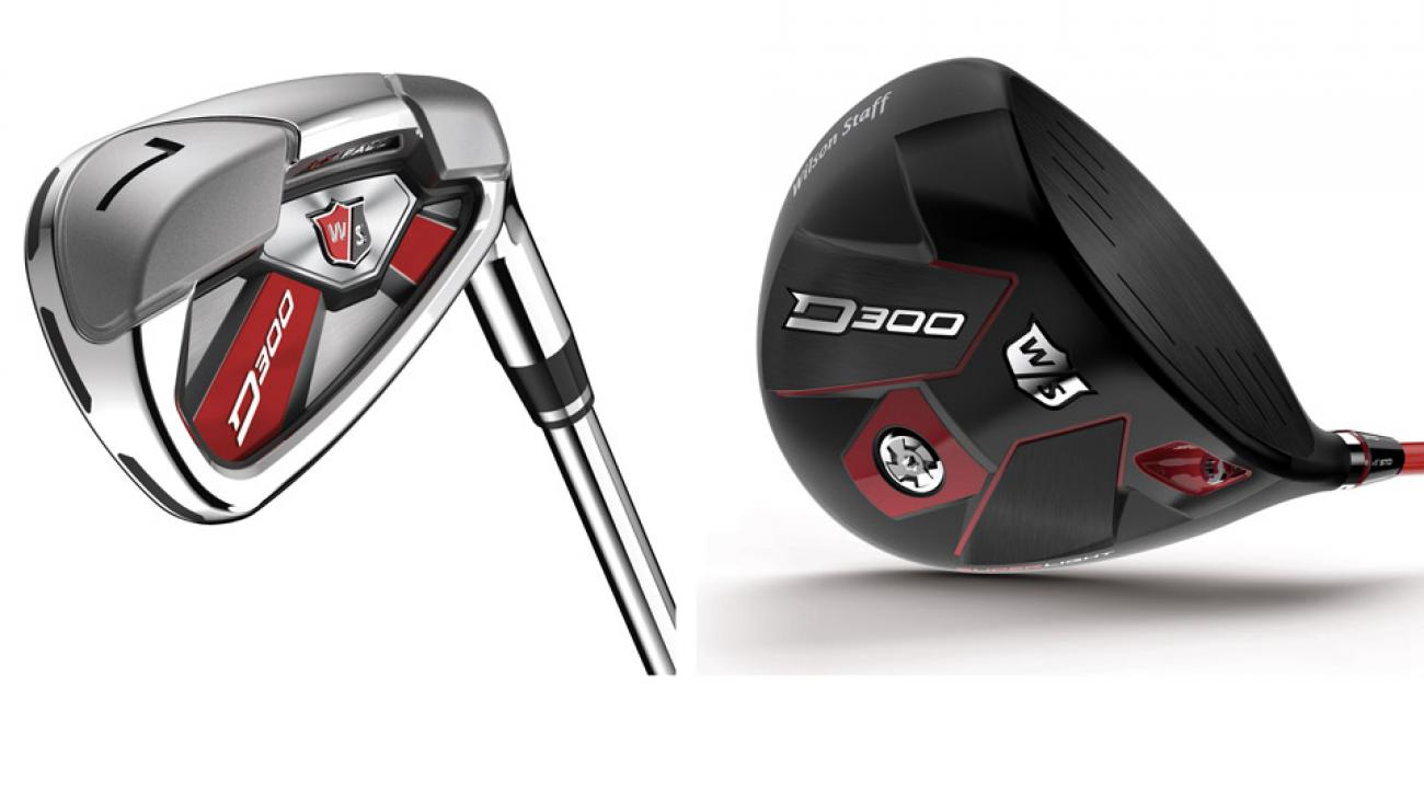 Wilson Staff D300 iron and driver.